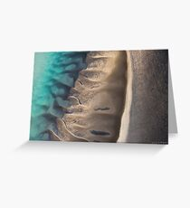 Sunlit Sand Ripples Greeting Card