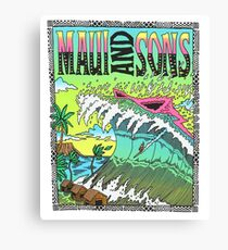 Maui And Sons Tidal Wave Canvas Print