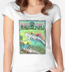 Maui And Sons Tidal Wave Women's Fitted Scoop T-Shirt
