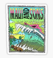 Maui And Sons Tidal Wave Sticker