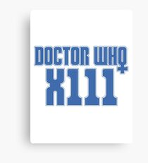 Doctor Who 13 Canvas Print