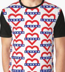 Love London underground metro, pattern Graphic T-Shirt
