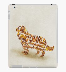 Cavalier King Charles Spaniel Typographic Watercolor Painting iPad Case/Skin