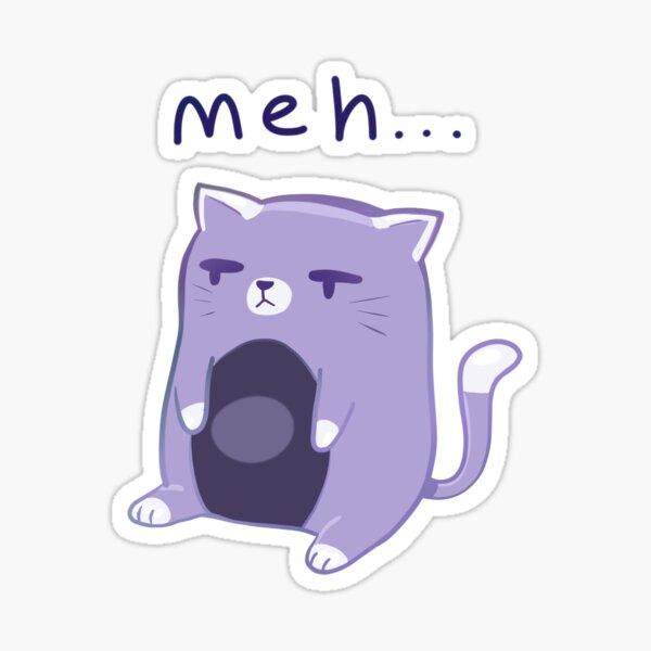 'meh' Cat Sticker