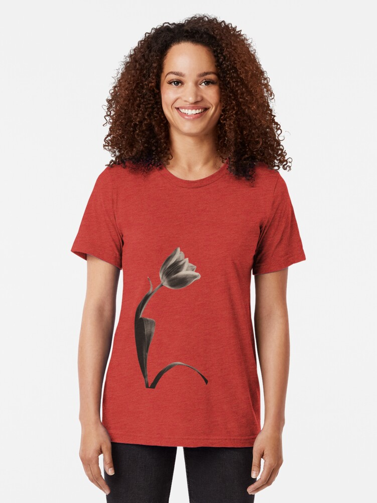 Alternate view of Antique Tulip Tri-blend T-Shirt