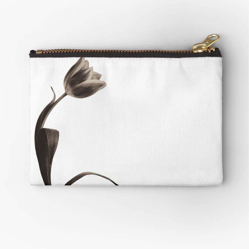 Antique Tulip Zipper Pouch