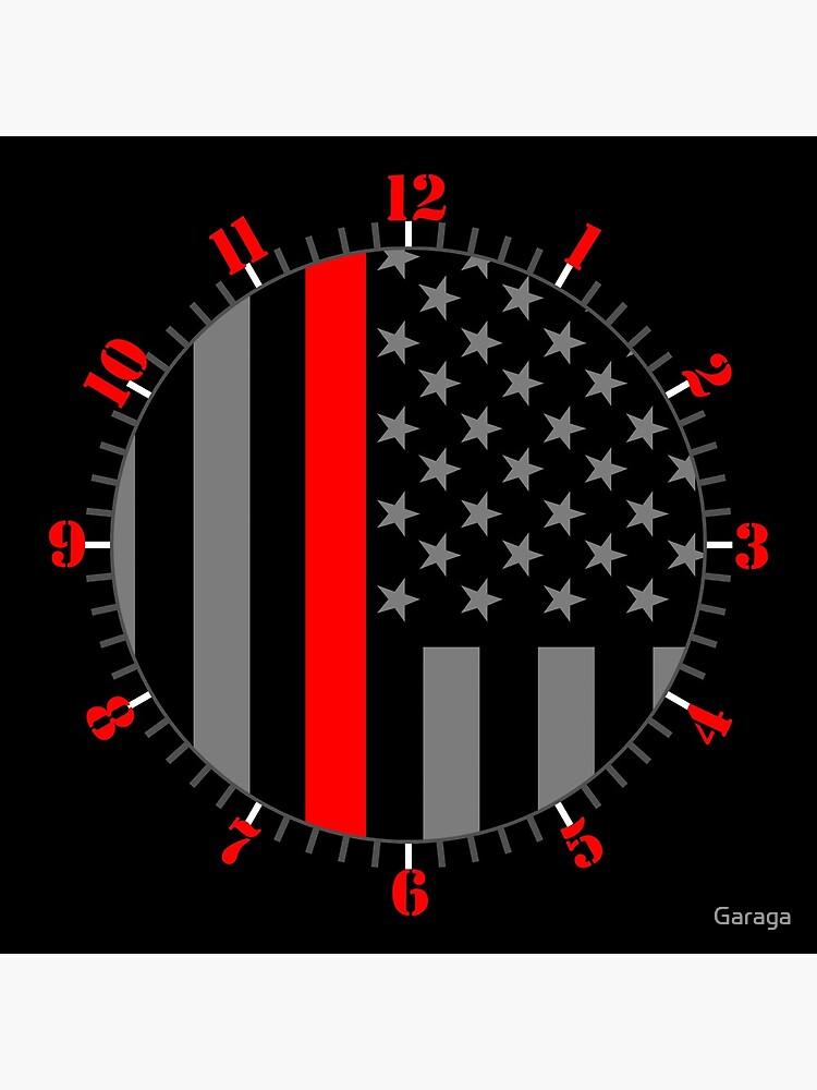 American Firefighter US Flag by Garaga