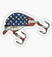 Pegatina Señuelo de pesca estadounidense