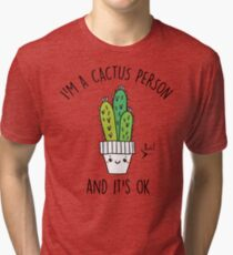 Cactus Person Tri-blend T-Shirt