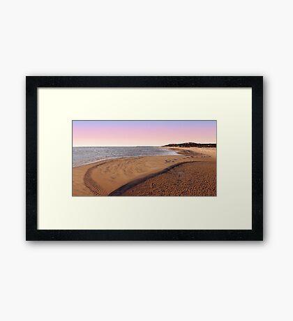 Shark Bay Beach At Dawn  Framed Print