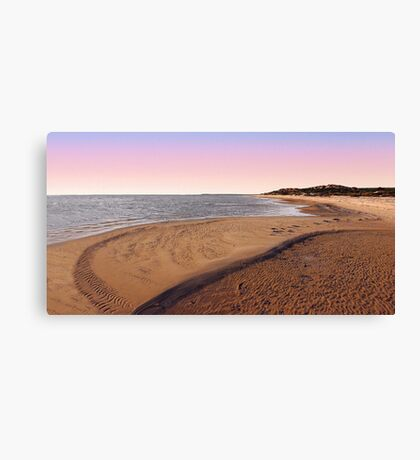 Shark Bay Beach At Dawn  Canvas Print