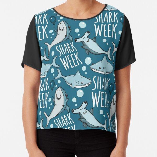 Shark Week! Chiffon Top