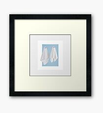 Couple of fake ghost Framed Print
