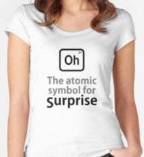 Atomic Symbol for Surprise tshirt Women's Fitted Scoop T-Shirt