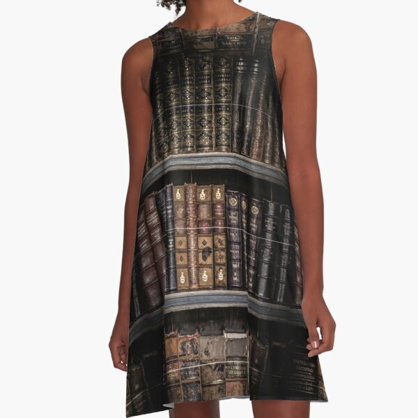 Photography - Old Books A-Line Dress