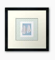 Couple of fake ghost and flower pattern Framed Print