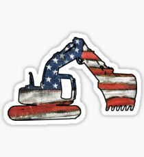 USA Loader Track Hoe Construction Equipment Sticker