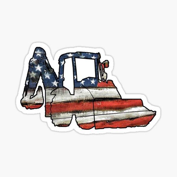 USA Loader Track Hoe Construction Equipment Sticker