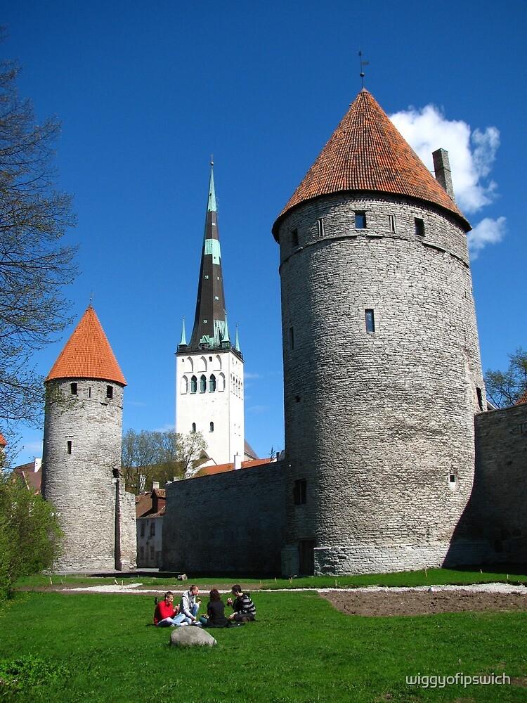 Tallinn City Walls and St Olav's by wiggyofipswich