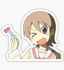 Nichijou: Yuuko caught the sausage Sticker