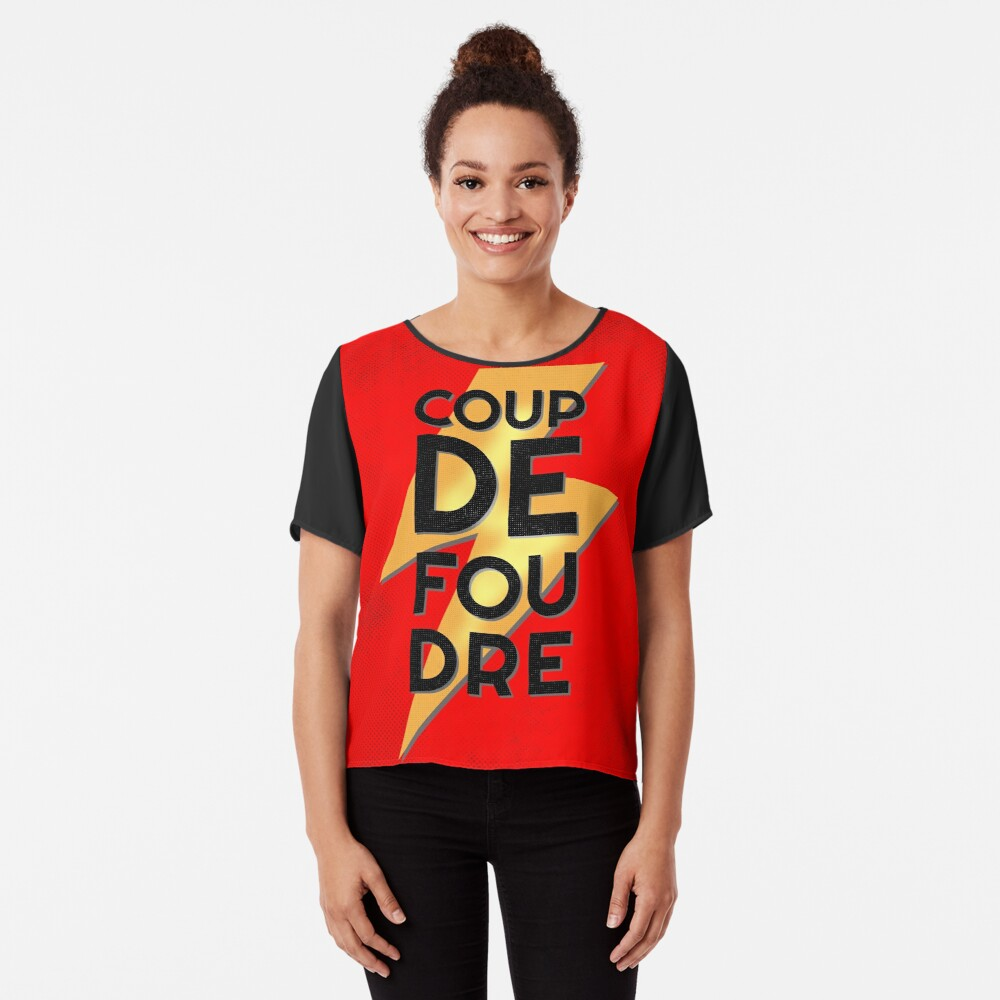 Coup de Foudre Love at First Sight Chiffon Top
