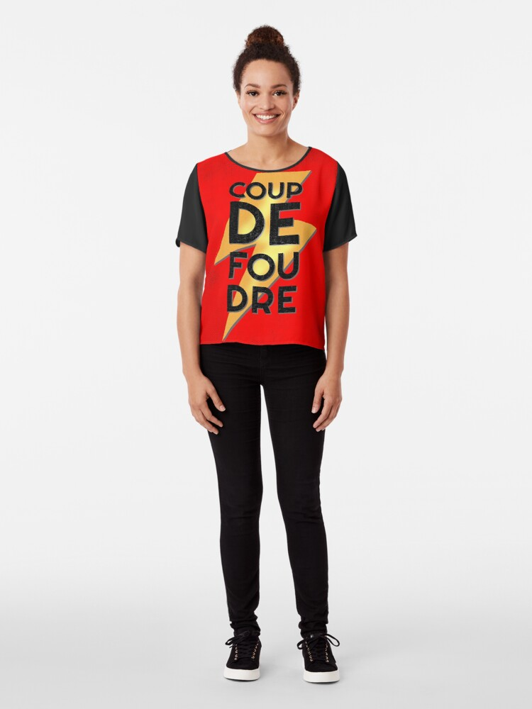 Alternate view of Coup de Foudre Love at First Sight Chiffon Top
