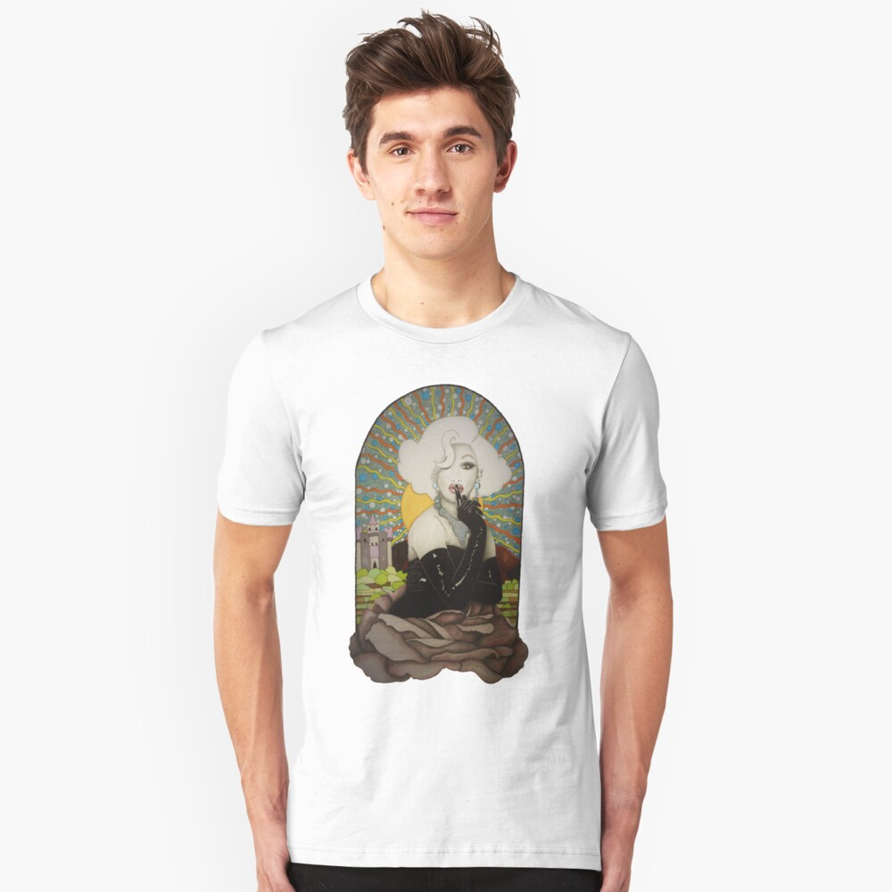 Fondo claro Jinkx Monsoon Design Camiseta ajustada