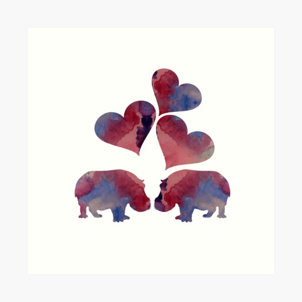 Hippo Art Art Print