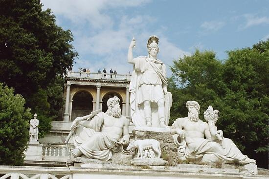 statues at plaza del popolo, Rome by chord0