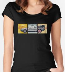 Delorean - Back to the Future Women's Fitted Scoop T-Shirt