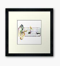 Ferrets Art - Musical note Framed Print