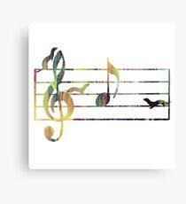 Ferrets Art - Musical note Canvas Print