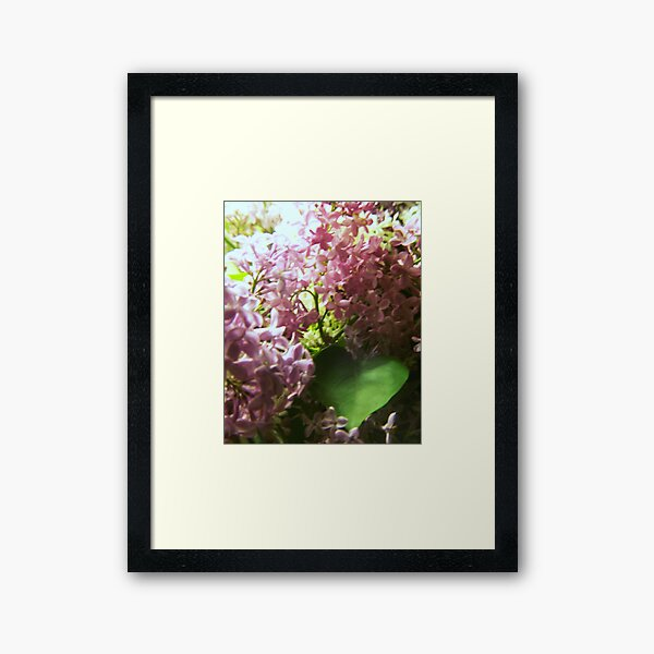 I Love Lilacs Framed Art Print