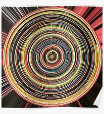 90's Alternative Vinyl Records Poster