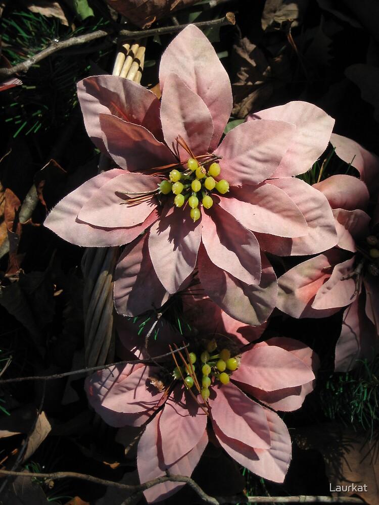 graveyard flowers in winter by Laurkat