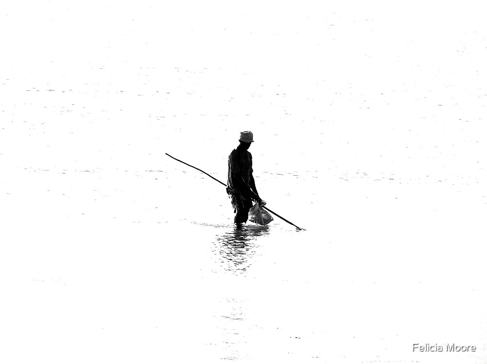 The Solitary Fisherman by Felicia Moore
