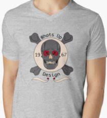 Vintage Skull Men's V-Neck T-Shirt