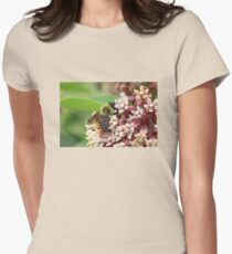 Bumble Bee Collecting Pollen on Pink Flowers T-Shirt