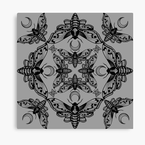 Ghost Cirice Moth Kaleidoscope Canvas Print