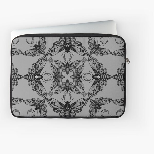 Ghost Cirice Moth Kaleidoscope Laptop Sleeve