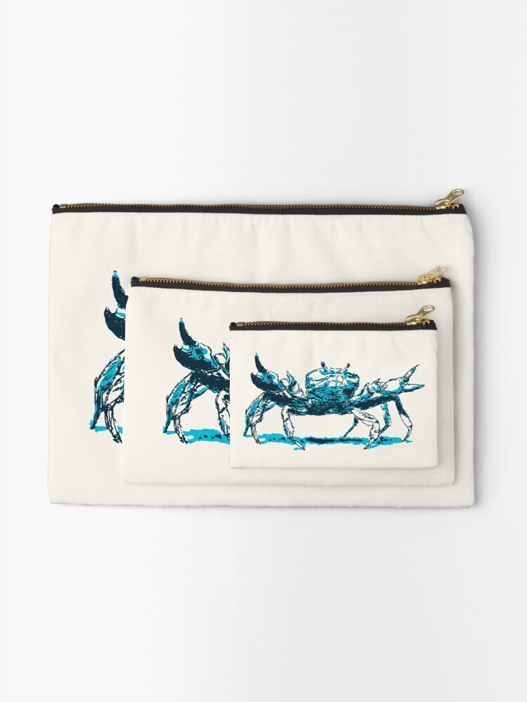Alternate view of Crab Zipper Pouch