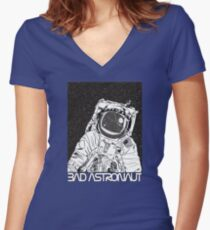 Bad Astronaut Women's Fitted V-Neck T-Shirt