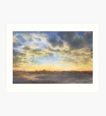 The whisper of dusk (watercolour) Art Print