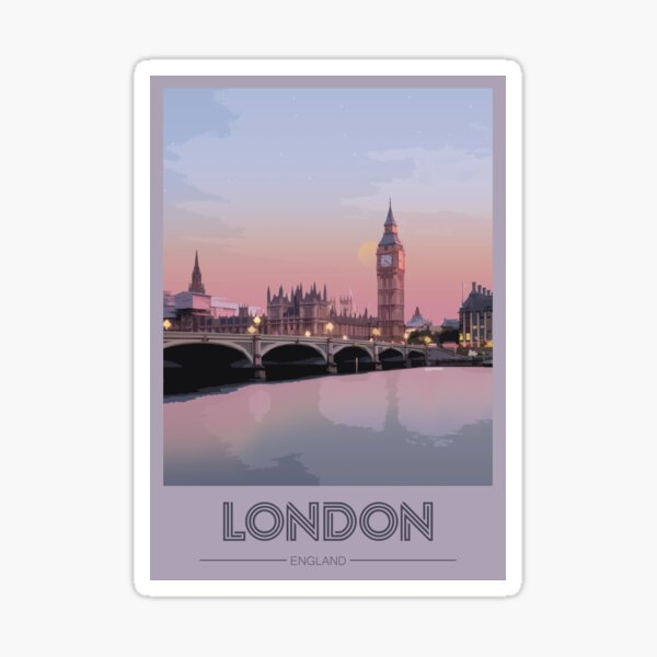Travel to London Sticker