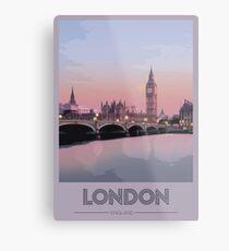 London Travel Poster Metal Print