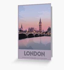 London Travel Poster Greeting Card