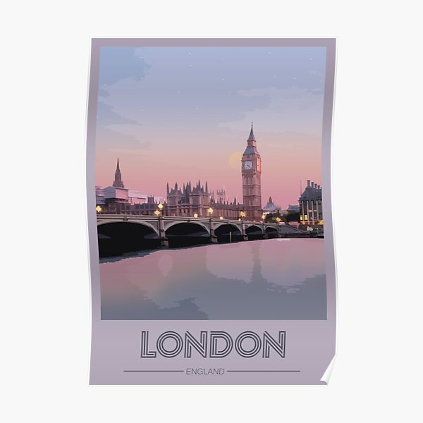 Travel to London Poster