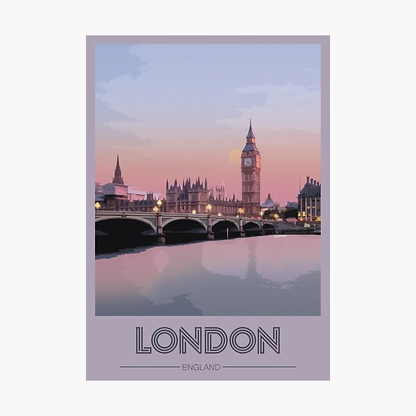 Travel to London Photographic Print