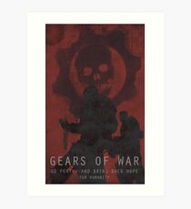 Gears Of War Game Poster Art Print