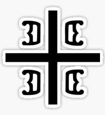 Serbian cross Sticker